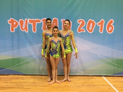 Monegasques Eva Arnulf, Penelope Fresko and Emma Levaillant in Putian 2016 @Femina Sports Monaco
