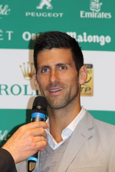 Novak Djokovic during the official main draw at the Oceanographic Museum of Monaco @CelinaLafuenteDeLavotha