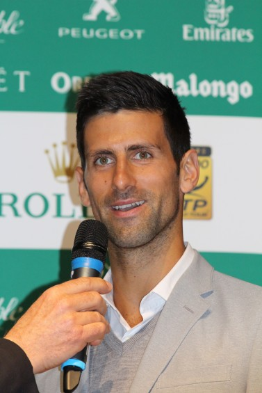 Novak Djokovic during the official main draw at the Oceanographic Museum of Monaco @CelinaLafuenteDeLavotha