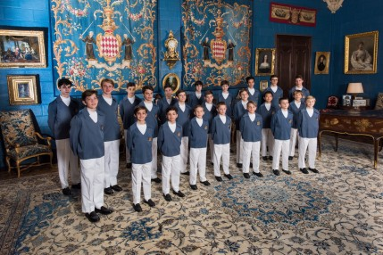 Official Photo of Les Petits Chanteurs de Monaco at the Prince's Palace @ Gaetan Luci : Prince's Palace Monaco.2016[2]