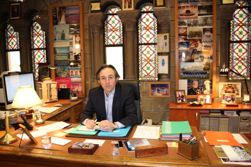 Pierre Debat in his office at the Cathedral of Monaco @CelinaLafuenteDeLavotha