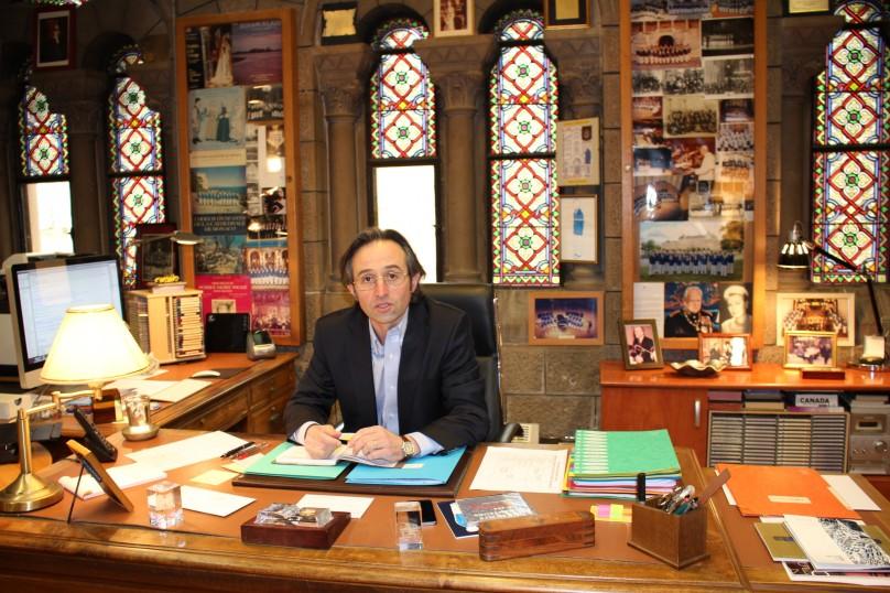 Pierre Debat in his office at the Cathedral of Monaco @CelinaLafuenteDeLavotha