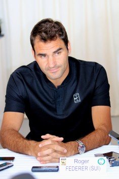 Roger Federer during the Press Conference on Sunday, April 10 @CelinaLafuenteDeLavotha