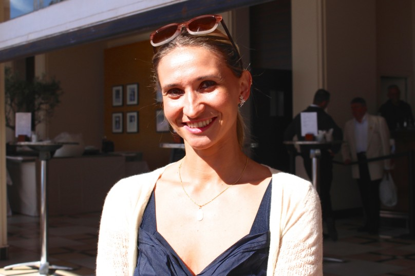 Tatiana Golovin former tennis player turned commentator at the MCRM 2016 @CelinalafuenteDeLavotha