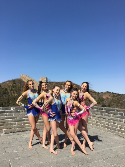 The French and Monegasque groups by the Great Wall of China 2016@Femina Sports