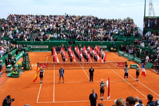 The trophy ceremony of the 110th Monte-Carlo Rolex Masters 2016 @CelinaLafuenteDeLavotha