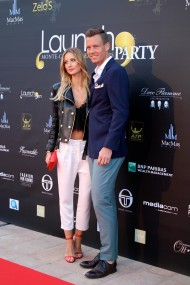 Tomas Berdych and wife Ester Satorova at Zelo's launch party MCRM 2016 @CelinaLafuenteDeLavotha