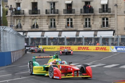Watching the race from the balconies in Paris ePrix @P1 Media Relations
