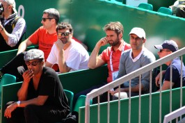 Yannick Noah and Cedric Piolin in Gasquet's bench @CelinaLafuenteDeLavotha