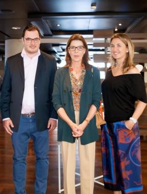 artmonte-carlo 2016 - HRH Princess Caroline de Hanovre with Thomas Hug and Safia Al Rashid (c) Fabien Prauss