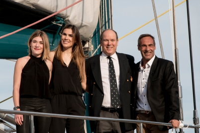 Jessica, Annika, HSH Prince Albert and Mike Horn at YCM May 6, 2016 Pole2pole@Franck Terlin-0336
