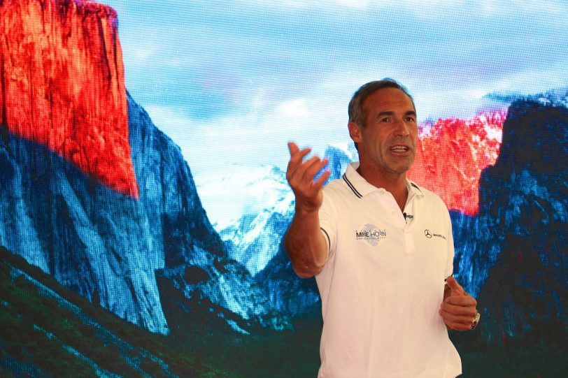 Mike Horn presenting his Pole2Pole expedition at the YCM May 6, 2016 @CelinaLafuenteDeLavotha