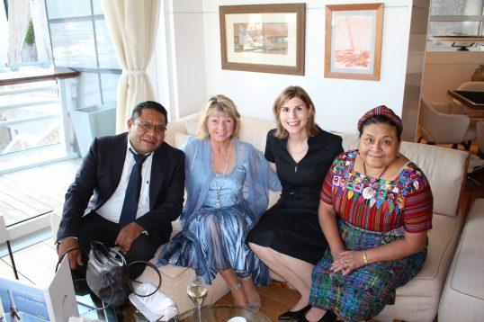 Angel Canil, Dawn Engle, Claudia Abate-Debat and Rigoberta Menchu @CelinaLafuenteDeLavotha