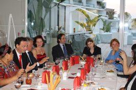 Dinner in honor of Rigoberta Menchu at YCM @CelinaLafuenteDeLavotha