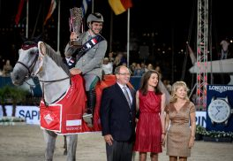 Emanuele Gaudiano with Prince Albert, Charlotte Casiraghi and Diane Fissore @RB presse
