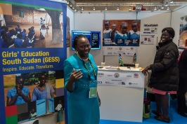 Girls' education South Soudan exhibit at Women Deliver 2016 @WD