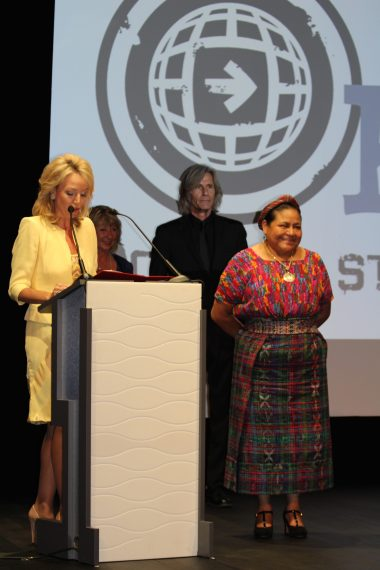 HRH Princess Camilla of Bourbon Two Sicilies, Duchess of Castro with Dawn Engle, Ivan Suvanjieff and Rigoberta Menchu @CelinaLafuenteDeLavotha