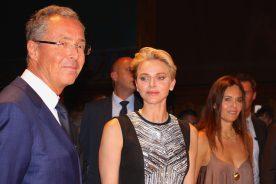 HSH Princess Charlene of Monaco with Robert Calcagno and Federica Nardoni Spinetta at MCFW 2016 @CeilnaLafuenteDeLavotha