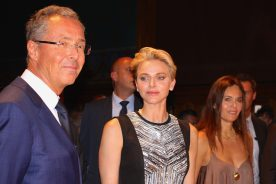 HSH Princess Charlene of Monaco with Robert Calcagno and Federica Nardoni Spinetta at MCFW 2016 @CeilnaLafuenteDeLavotha