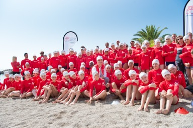 HSH Princess Charlene with students and high level athletes Water Safety Day @Prince's Palace Monaco
