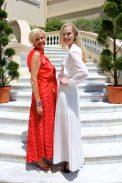 Irina Goudkova and top model Tanya Dziahileva MCFW2016@CelinaLafuenteDeLavotha