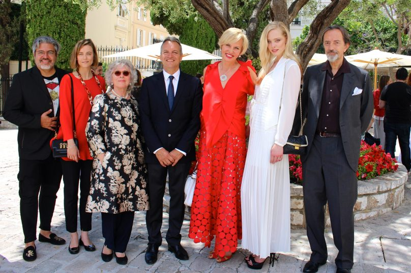 Marcos Marin, Chole Bascagli-Leclercq, Sophie Rochas, Tatyana Dziahileva, Giovanni Gastel at the Monaco Town Hall @ CelinaLafuenteDeLavotha