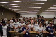 Monaco students participating in the PeaceJam 2016 Conference in Monaco @Christine Wu