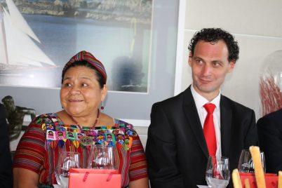 Rigoberta Manchu and Guy Antognelli representing the Monaco Tourist Bureau @CelinaLafuenteDeLavotha