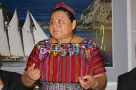 Rigoberta Manchu at the dinner at YCM @CelinaLafuenteDeLavotha