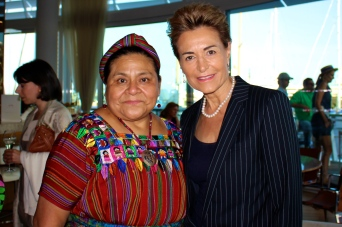 Rigoberta Menchu and Celina LafuenteDeLavotha @Dawn Engle