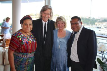 Rigoberta Menchu, Ivan Suvanjieff, Dawn Engle and Angel Canil at the YCM @CelinaLafuenteDeLavotha
