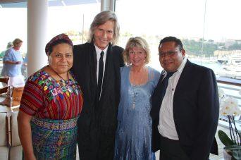 Rigoberta Menchu, Ivan Suvanjieff, Dawn Engle and Angel Canil at the YCM @CelinaLafuenteDeLavotha