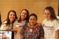 Rigoberta Menchu with Monaco students @Christine Wu