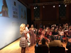 Stella Jean receiving the MCFW 2016 Award @MCFW