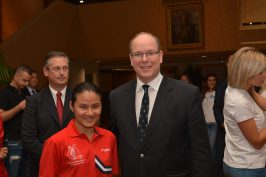 Xiaoxin Yang with HSH Prince Albert @Anthony Warmbold