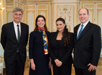 Jean Louis Grinda, HRH Princess Caroline of Hanover, Cecilia Bartoli and HSH Prince Albert II of Monaco @ G. Luci - Palais Princier Monaco 2015