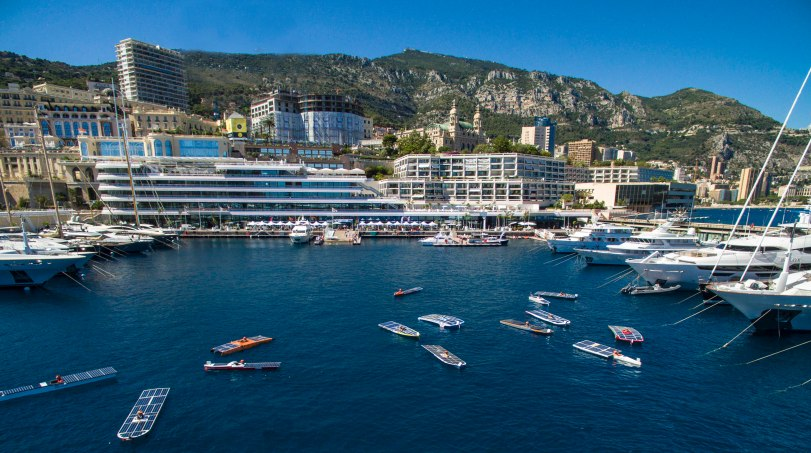 Monaco Solar Boat Challenge 2016 view from the air@MCCLIC