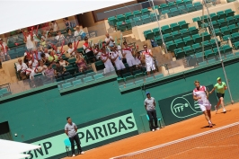 The Monaco fans encouraging the team Davis Cup July 2016@Federation Monegasque de Tennis:ERika