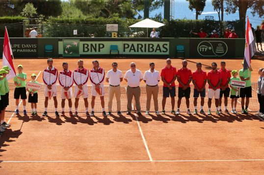 The Monegasque and Egyptian teams presentation @Federation Monegasque de Tennis:ERika
