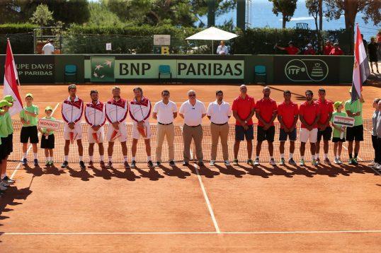 The Monegasque and Egyptian teams presentation @Federation Monegasque de Tennis:ERika