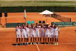 The victorious Davis Cup Monegasque Team 2016 @Federation Monegasque de Tennis : Erika Tanaka