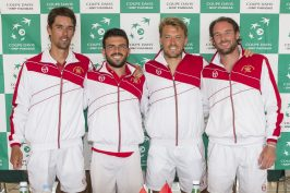 Thomas Oger, Romain Arnodo, Benjamin Balleret and Guillaume Couillard @Federation Monegasque de Tennis:ERika Tanaka
