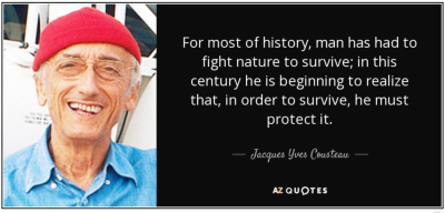 Jacques Yves Cousteau quote