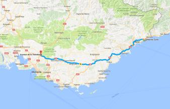 Monte-carlo to Villa Gallici in Aix en Provence, France