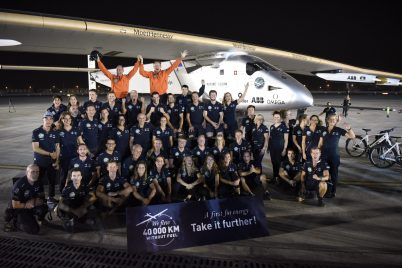 Solar Impulse landing in Abu Dhabi, United Arab Emirates @Solar Impulse Press Team