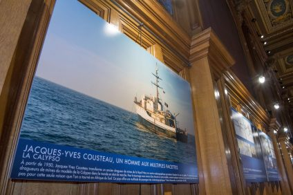 Photos of the movie The Odyssey exhibited at the Oceanographic Museum of Monaco @M.Dagnino