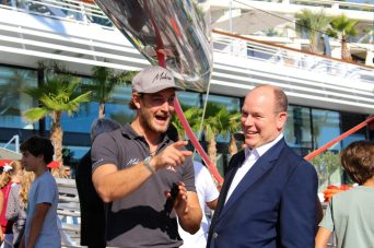 Pierre Casiraghi sharing a laugh with Prince Albert II at the YCM @CelinaLafuenteDeLavotha