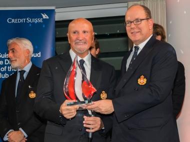 HSH Prince Albert II honoring Vincenzo Onorato at YCM Awards 2016 @Mesi