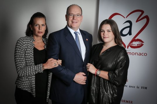 HSH Prince Albert with Princess Stephanie and her daughter Camille Gottlieb @FAM 2016
