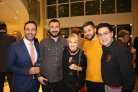 Manuel Dalgo and friends at the Fight Aids Monaco art auction @CelinaLafuentedeLavotha